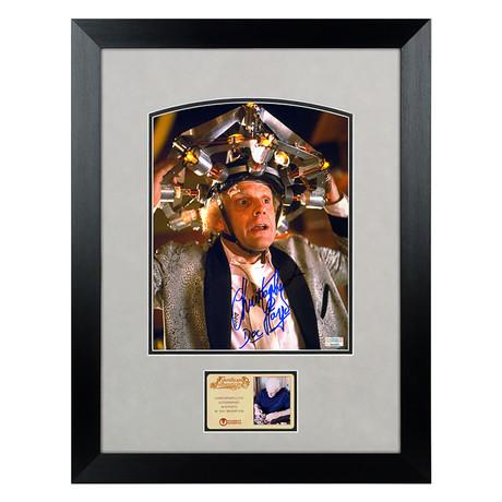 Framed + Autographed Photo // Christopher Lloyd