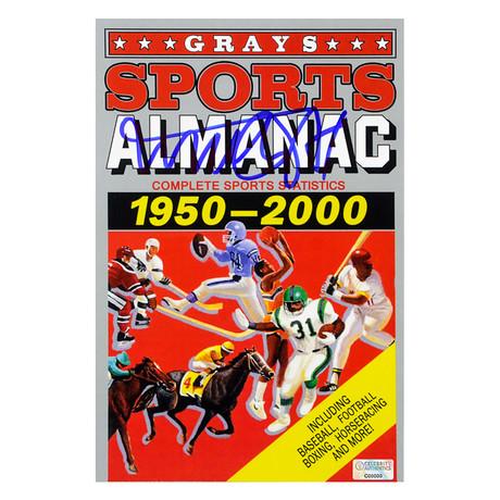 Autographed Replica Grays Sports Almanac 1950-2000 // Michael J. Fox
