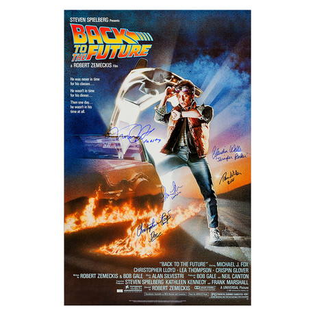 Cast Autographed // 1985 Back To The Future Movie Poster