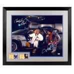 Framed + Autographed Photo // Delorean // Michael J. Fox + Christopher Lloyd