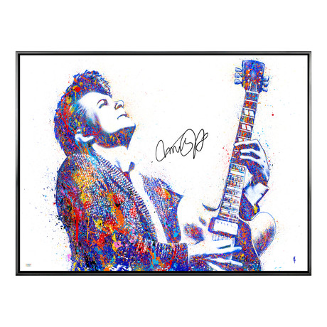Autographed Limited Edition Canvas Print // Johnny B. Goode // Michael J. Fox