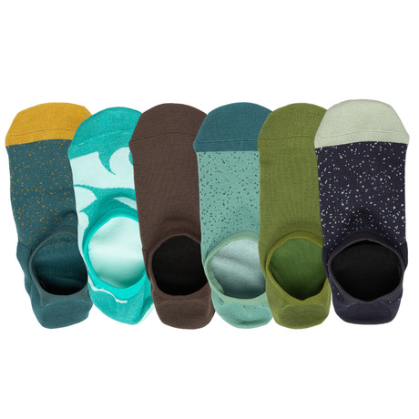 Patton No Show Socks // Pack of 6 (Small)