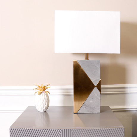 Triumph Table Lamp // White