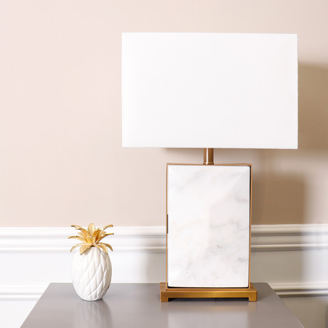 Reign Table Lamp // White
