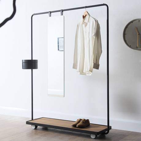 Dolores Clothing Rack (Green // Gray // Waxed Oak)