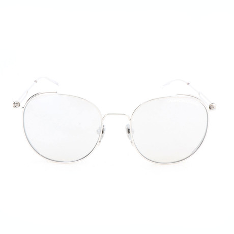 Unisex CK8052 Sunglasses // Shiny Nickel + White