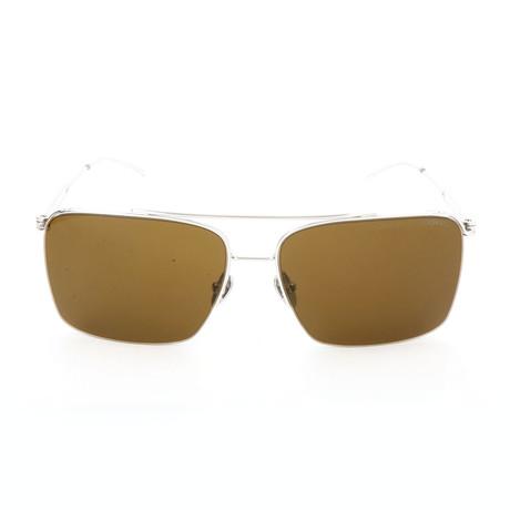 Men's CK8051 Sunglasses// Shiny Nickel
