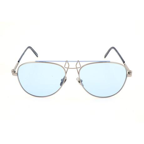 Unisex CKNYC1812 Sunglasses // Silver + Blue II