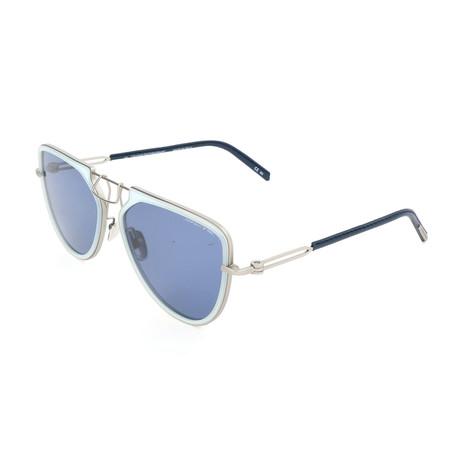 Unisex CKNYC1874 Sunglasses // Milky Light Blue