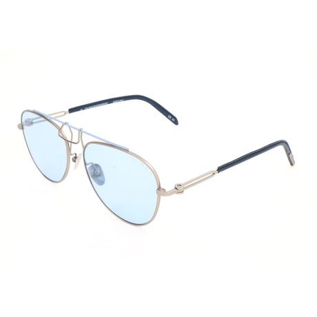 Unisex CKNYC1812 Sunglasses // Silver + Blue