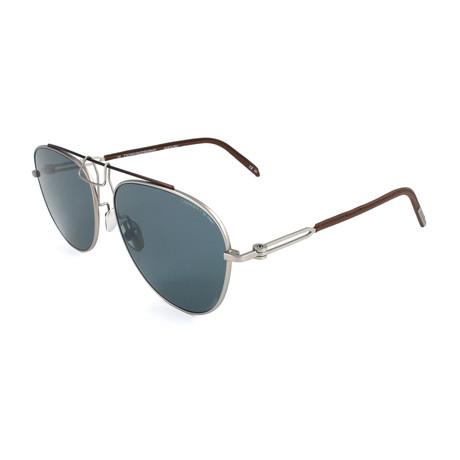 Unisex CKNYC1812 Sunglasses V2 // Silver + Brown