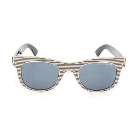 Unisex CKNYC1954 Sunglasses // Gold + Black Stripes