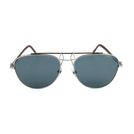Unisex CKNYC1812 Sunglasses // Silver + Brown II