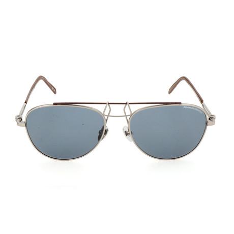 Unisex CKNYC1812 Sunglasses // Silver + Brown