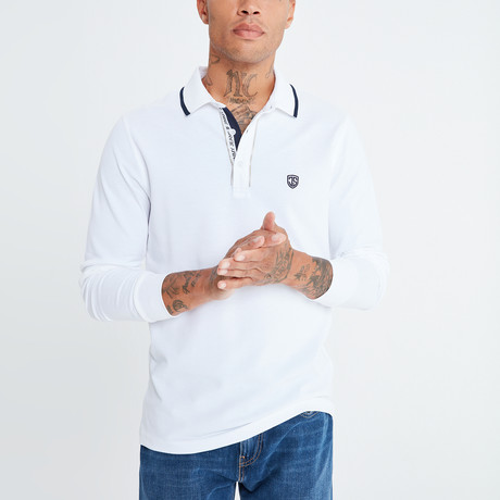 Amo Long Sleeve Polo // White (S)