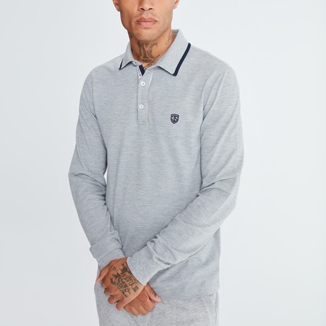 Amo Long Sleeve Polo // Gray (S)