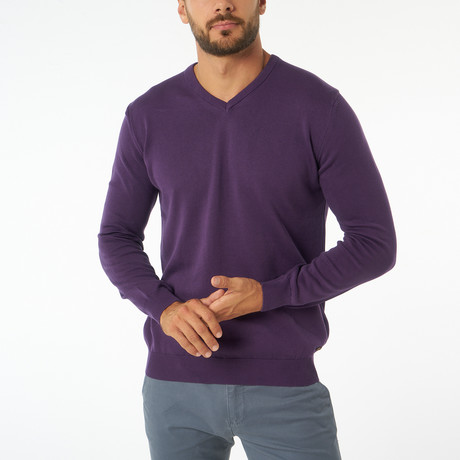 Jimmy Sanders // Zolia Sweater // Purple (S)