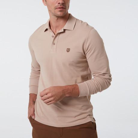 Alvise Long Sleeve Polo // Beige (S)
