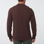 Alvise Long Sleeve Polo // Brown (S)