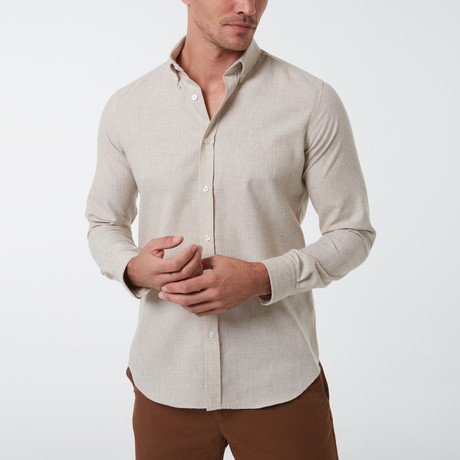 Frantz Button-Up Shirt // Beige (S)