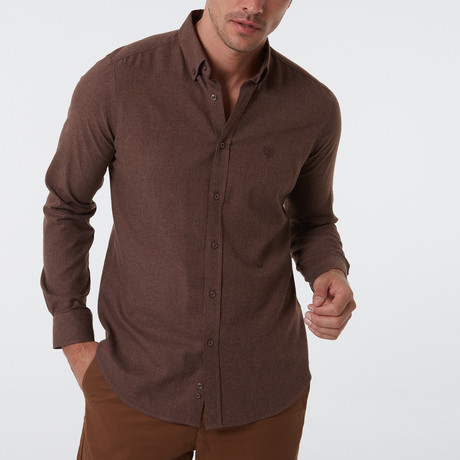 Frantz Button-Up Shirt // Brown (S)
