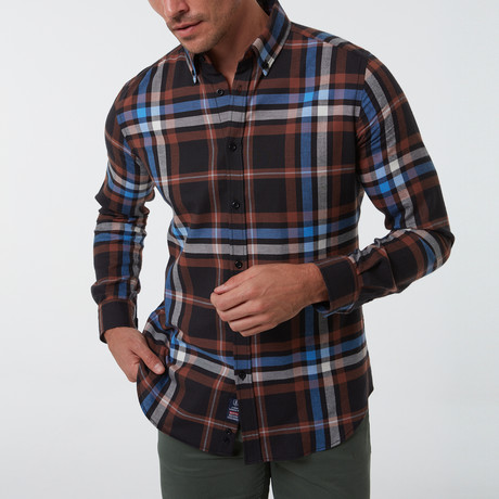 Geoff Button-Up Shirt // Brown (S)