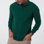 Alvise Long Sleeve Polo // Dark Green (3XL)