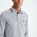 Amo Long Sleeve Polo // Gray (XL)