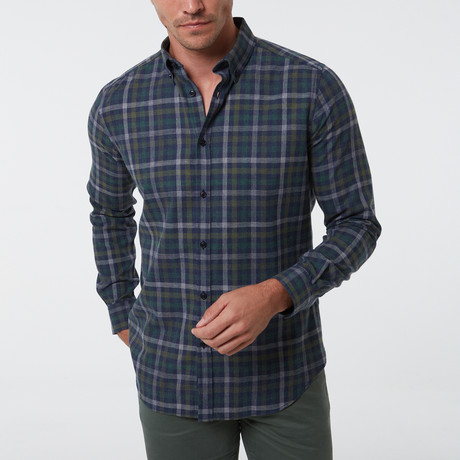 Fernando Button-Up Shirt // Dark Green (S)