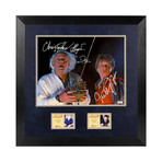 Michael J. Fox & Christopher Lloyd // Framed + Autographed Back To The Future Photo // Doc & Marty Mcfly