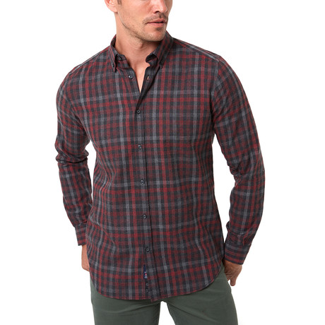 Fernando Button-Up Shirt // Bordeaux (S)