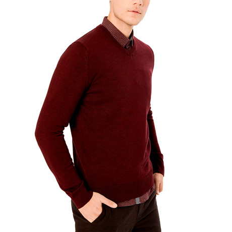 Roosevelt Sweater // Burgundy (S)