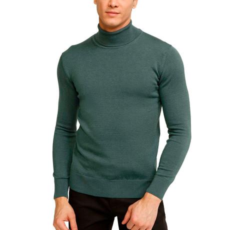 Tahoe Turtleneck Sweater // Retro Green (S)