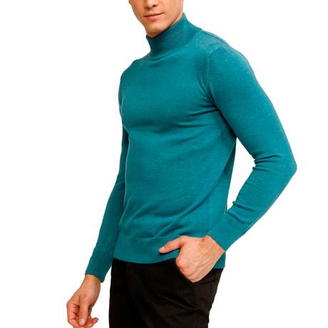 Johnson Half Turtleneck Sweater // Turquoise (S)