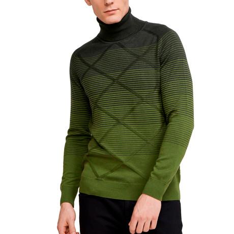 Samuel Turtle Neck Sweater // Khaki Green (S)