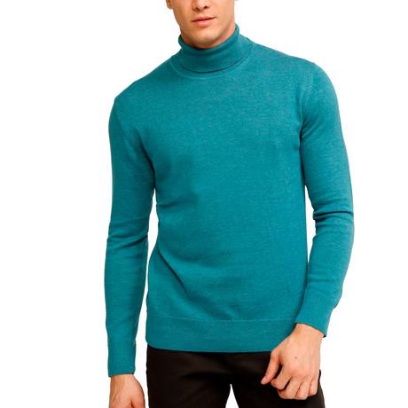 Tahoe Turtleneck Sweater // Turquoise (S)