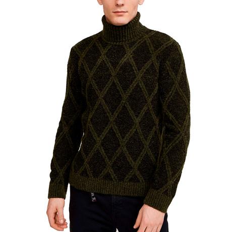 Tom Turtleneck Sweater // Dark Khaki (S)