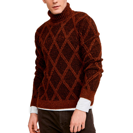 Tom Turtleneck Sweater // Brick (S)