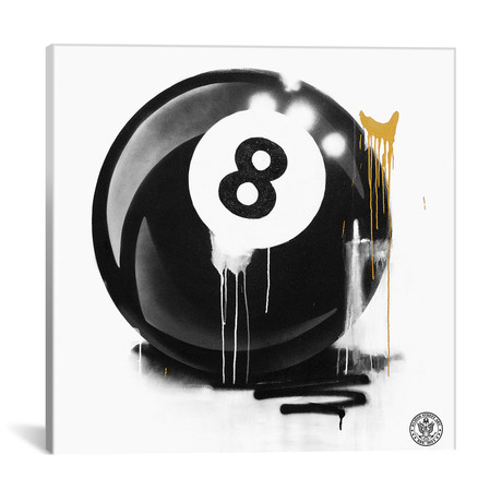 """Lucky 8 Ball (12""""W x 12""""H x 0.75""""D)"""