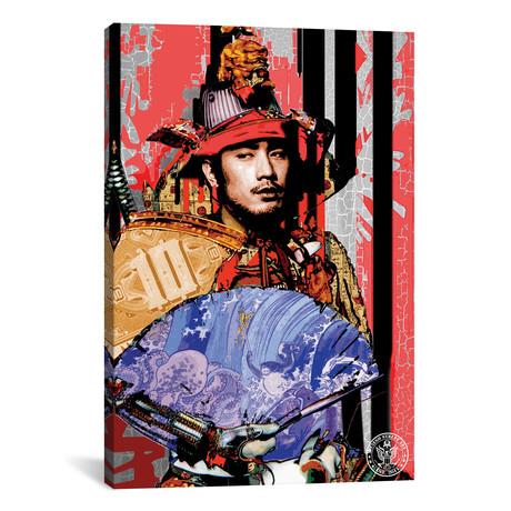 """Red Samurai (12""""W x 18""""H x 0.75""""D)"""