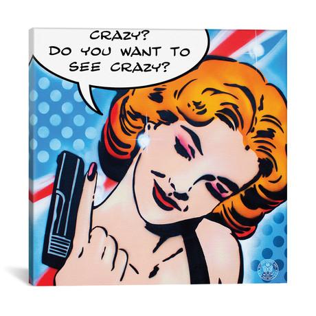 """Crazy (12""""W x 12""""H x 0.75""""D)"""
