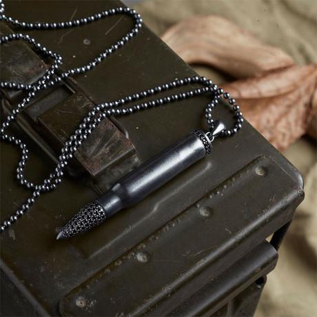 GKL0154 // Bullet Necklace  // Black (XS-S)
