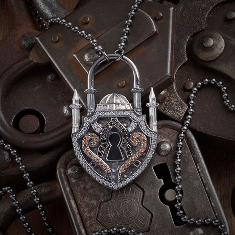 GKL0102 // Istanbul Necklace // Black + Silver (XS-S)
