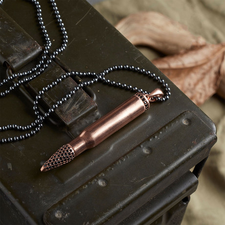 GKL0150 // Bullet Necklace  // Rose (XS-S)