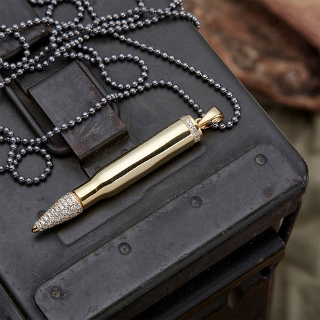 GKL0146 // Bullet Necklace  // Gold (XS-S)