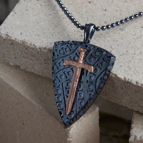 GKL0062 // Necklace Of Knights // Black + Rose (XS-S)
