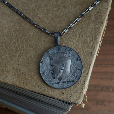 GKL0138 // Coin Necklace // Black (XS-S)
