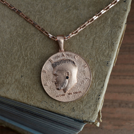 GKL0140 // Coin Necklace // Rose (XS-S)