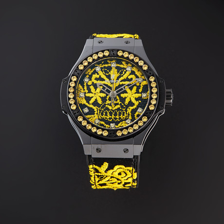 Hublot Ladies Big Bang Broderie Sugar Skull Fluo Sunflower Automatic // 343.CY.6590.NR.1211 // Pre-Owned