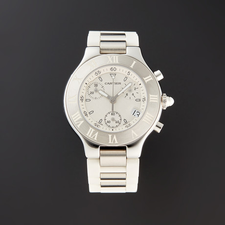 Cartier Ladies Must 21 Chronoscaph Quartz // W10184U2 // Pre-Owned